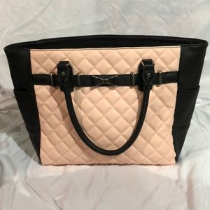 Icing Bags - Black and pink quilted patten purse